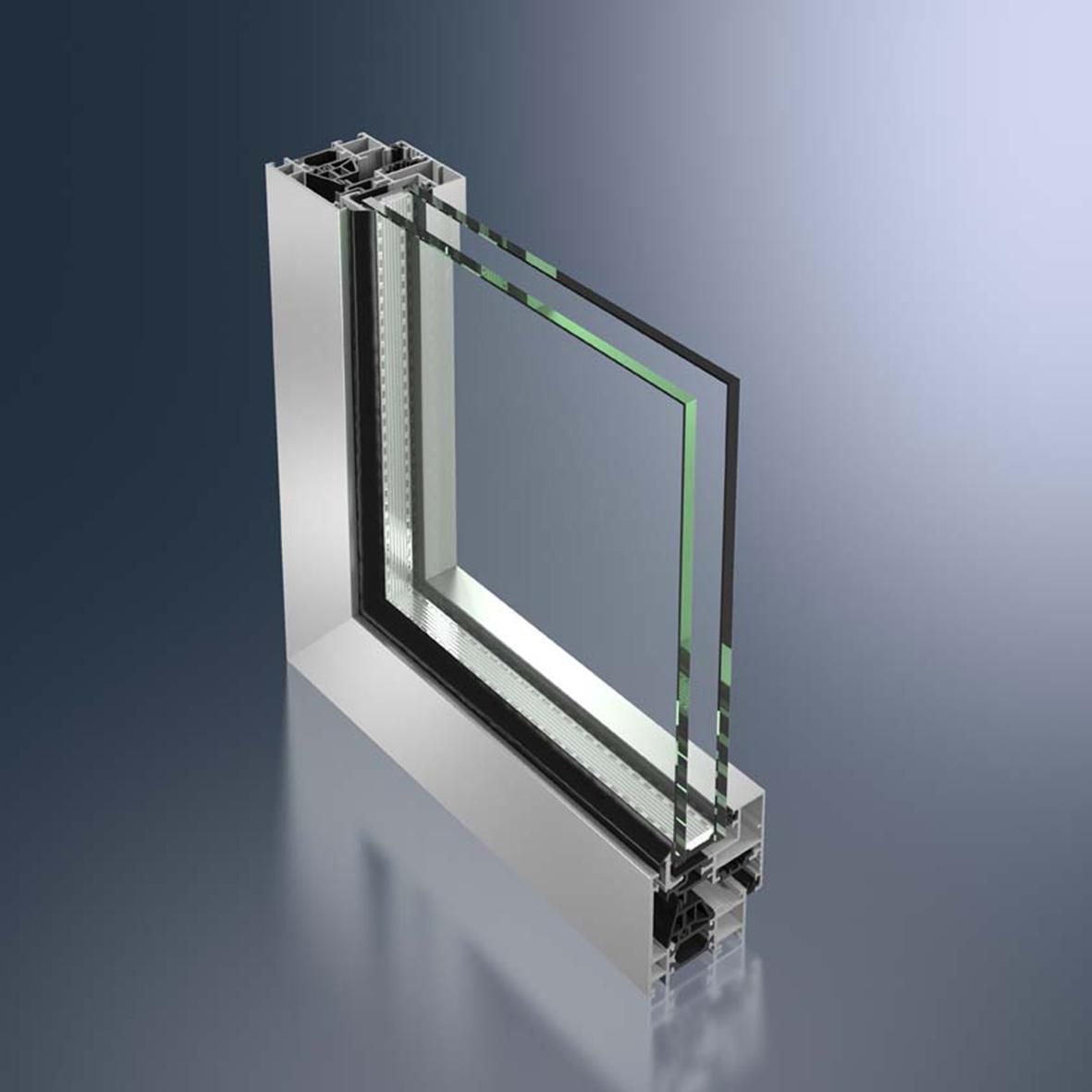 La frappe ouvrant cach menuiseries aluminium pour les - Cache montant de porte ...